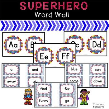 Superhero Inspired Word Wall