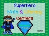 Superhero JUMBO Pack (45 Math & ELA centers)