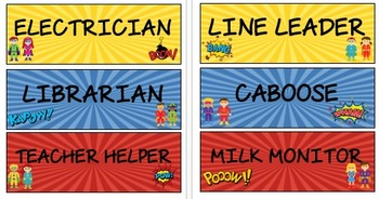 Superhero Job Cards