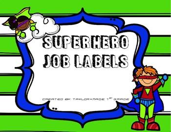Superhero Job Labels