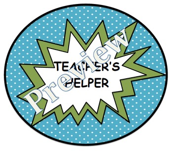 Superhero Themed Student Job Organizer (Customizable)