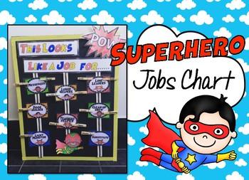 Superhero Jobs Chart - EDITABLE