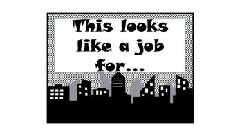 Superhero Jobs Clip Chart