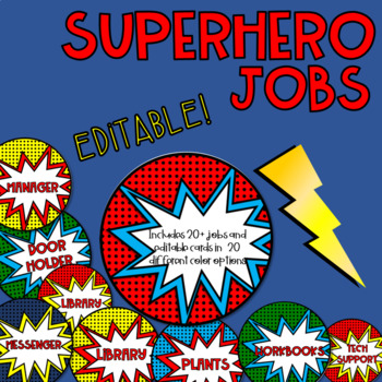 Superhero Jobs EDITABLE