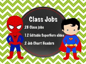 Superhero Jobs EDITABLE Green Chevron