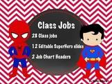 Superhero Jobs EDITABLE Red Chevron