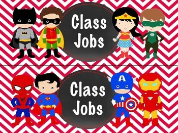 Superhero Jobs EDITABLE Red Chevron