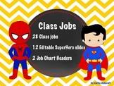 Superhero Jobs EDITABLE Yellow Chevron