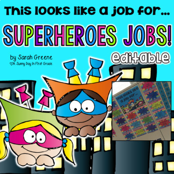 Superhero Jobs! {editable!}