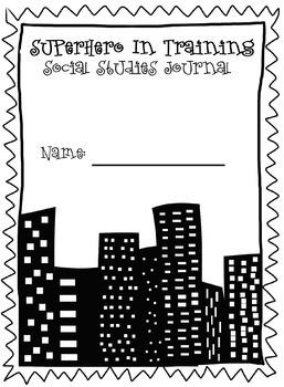 Superhero Journal Cover