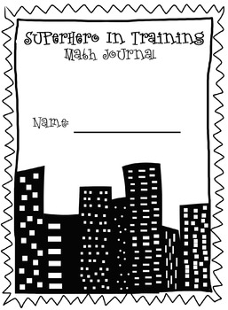 Superhero Journal Cover- Math
