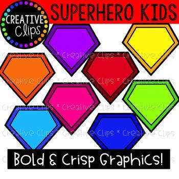 Superhero Kids Clipart {Superhero Clipart}
