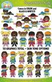 Superhero Kid Characters Clipart {Zip-A-Dee-Doo-Dah Designs}
