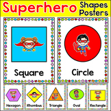 Shapes Posters - Superhero Theme Classroom Decor