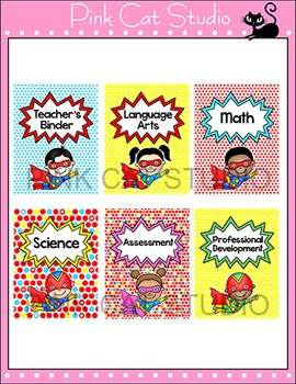 Editable Teacher Binder Covers - Superhero Classrrom Materials