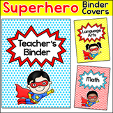 Editable Teacher Binder Covers - Superhero Classrrom Materials