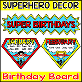 Superhero Birthday Board - Editable Superhero Theme Decor