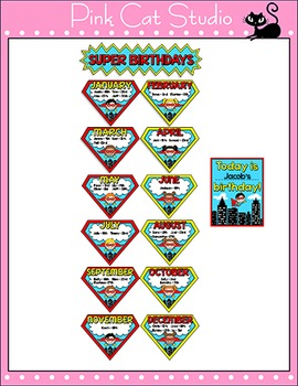 Superhero Birthday Board - Editable Superhero Theme Decor
