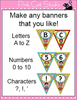 Bunting - Superhero Classroom Decor