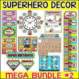 Superhero Theme Classroom Decor Bundle Part 2 - Clip Charts, Birthday Board etc