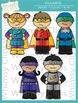 Little Shorties Superhero Kids Clip Art