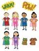 Superhero Kids Clip Art – Commercial-Use