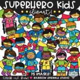Superhero Kids Clipart MEGA Set!