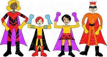 Superhero Kids Clipart by Poppydreamz