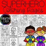 Superhero Kids Coloring Pages (+writing papers) {Superhero