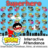 Superhero Attendance for Smartboards, Promethean or Mimo -