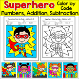 Color by Number Activities - Superhero Theme Math Morning Work