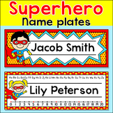Superhero Theme Classroom Materials - Name Plates