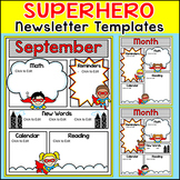 Superhero Theme Monthly Newsletter Template Editable for any Language