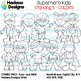 Superhero Kids Standing Clip Art - Combo Pack 5