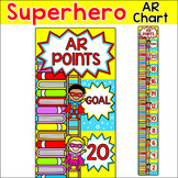 Superhero Theme Accelerated Reader (AR) Clip Chart - Class