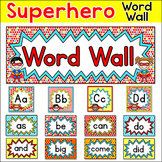 Sight Words Word Wall - Editable Superhero Theme Classroom Decor