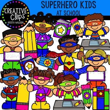 Superhero Kids at School: Superhero Clipart {Creative Clips Clipart}