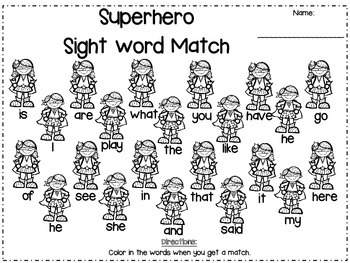Superhero Kindergarten Literacy Pack (9 Centers)
