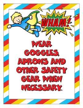 Superhero Lab Safety Posters