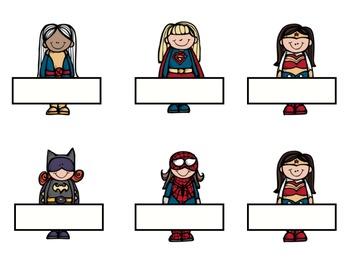 Superhero Tags