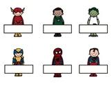 Editable Superhero Tags/Labels