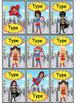Superhero Labels Four Sizes