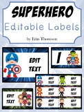 Superhero Labels ~ Editable