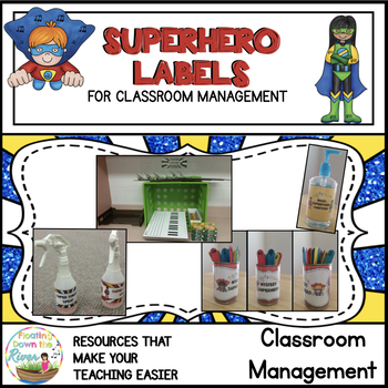Superhero Labels for Music Stations, Sanitizer, Spray, and Mystery Can