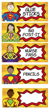 Superhero Labels for Toolbox or Anything!