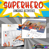Superhero Language Activities for Speech Therapy