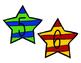 Superhero Large Number Star Labels