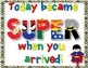 "Superhero ""Learning is our Super Power! FREEBIE!"
