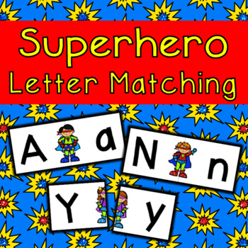Superhero Letter Matching Cards