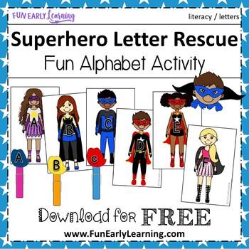 Superhero Letter Rescue - Letter Recognition & Identification